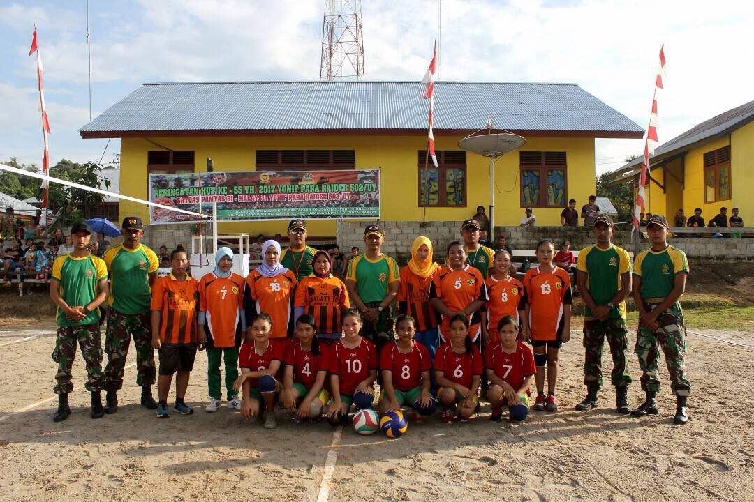 Yonif PR 502 Kostrad Gelar Turnamen Bola Voli Putri di ...